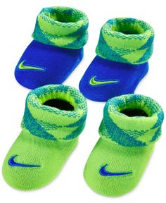 Nike Baby Boys' Two-Pack Knurling Booties Set Baby Boy Shoes, Baby Booties, Baby Boy Outfits, Kids Outfits, Newborn Outfits, Baby Nike, Baby Socks, Baby Girl Fashion, Kids Fashion