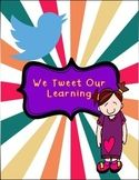Classroom Decor: We Tweet Our Learning - Twitter Bulletin Board Classroom Posters, Classroom Decor, Twitter Bulletin Boards, Wimpy, Teaching Resources, Lesson Plans, Teacher, How To Plan, Learning