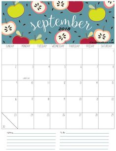 Here you will get Cute September 2019 Calendar Designs, Printable Calendar for your personal & office use at free of cost from our website. September Calendar Printable, September Calendar 2018, 2018 Holiday Calendar, Monthly Calendar 2018, 2018 Printable Calendar, Cute Calendar, Printable Calendar Template, Templates Printable Free, September Calander