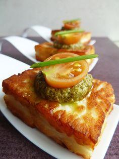 Pesto Halloumi - Canapé