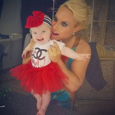 Tutu Cute from Ice-T & Coco's Cutest Pictures of Baby Chanel  Chanel looked quite happy to be spending the day with her mama on a photo shoot!