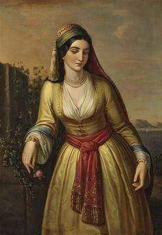 Greek Paintings, Classic Paintings, Art Paintings, Renaissance Paintings, Renaissance Art, Love Painting, Woman Painting, Empire Ottoman, Greek Beauty