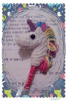 Amigurumi//Unicorn//Pencil Topper//Crochet//Unicornio//