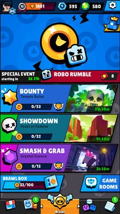 Brawl Stars is an online 3 v 3 mini MOBA from Supercell where I am the Creative Lead! Game Gui, Game Icon, I Love Games, Games To Play, Paul Chambers, The Office Characters, Card Ui, Human Anatomy Drawing, Button Game