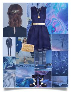 """""""// Fool's Gold // Homecoming 2016 // Contest //"""" by pessimistic-optimist on Polyvore featuring BOSS Hugo Boss, Jimmy Choo, New Look, ASOS, Aurélie Bidermann and Charlotte Olympia"""