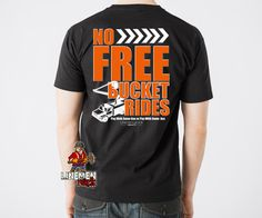 No free bucket rides- lineman shirts Lineman Wife, Power Lineman, Lineman Shirts, American Made, Black Hoodie, Long Sleeve Shirts, Bucket, Hoodies, My Style