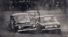 Leo Kinnunen in a Volvo PV544 (on the left), Bengt Söderström in a Ford Cortina GT (on the right) and Simo Lampinen in a Saab 96 Sport (on the back) at the 1964 1000 Lakes Rally (Rally Finland).  Date	15 August 1964