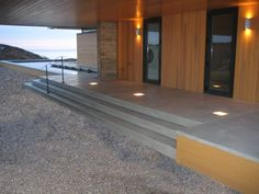 Customize your concrete with recessed lighting