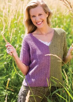 Take two identical sweaters in different colors, cut and sew together the different colors! Picture of The Crochet! 10 Year Anniversary Collection 2002 - 2011 DVD
