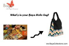What's in your Baya bag? Share your pictures with us on our page. Use hashtag ‪#‎bayacollections‬