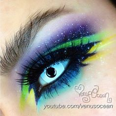 A magnificent work of art! @Venus Sung Ocean used a mix of Sugarpill and Inglot eyeshadows to create her out of this world (sorry, couldn't resist!) galaxy eye. Loooove the tiny stars!