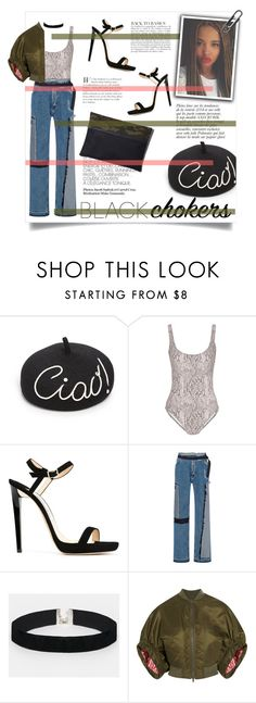 """""""Designer 90s"""" by chocohearts08 ❤ liked on Polyvore featuring Eugenia Kim, Anja, Norma Kamali, Jimmy Choo, Tome, ASOS, Givenchy and Cufflinks, Inc."""