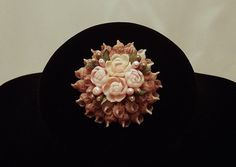Stunning Vintage 1930's Floral Brooch Made From Shells and Seed Pearls on Etsy, $23.23