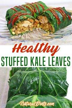 Asian stuffed kale leaves are kid-friendly! Just leave off the Siracha 🙂 I wanted to create something different from typical stuffed cabbage rolls and I did not want to smother it in tomato sauce. So this stuffing is my take on an Asian Kale Roll! Get creative too. Try adding carrots, broccoli or spinach…whatever you have in the fridge!   Natural Deets @naturaldeets #kalerecipes #healthystuffedkaleleaves #healthydinner #cleaneatingdinner #cleaneatingmealprep #kalerecipes #naturalde