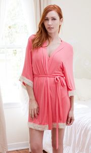 Coral Bridesmaid robe