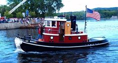 Waterford Tugboat Roundup. ⚓By Diver968⚓ Cool Boats, Small Boats, Offshore Boats, Steam Boats, Wooden Boat Building, Boat Projects, Float Your Boat, Yacht Boat, Tug Boats