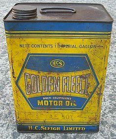 Australian garage motor oil tin.