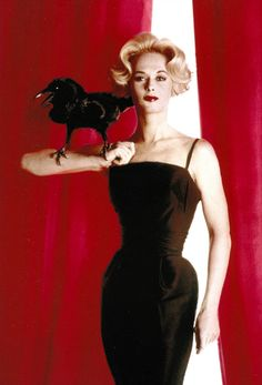 Tippi Hedren in a publicity photo for The Birds, 1963.