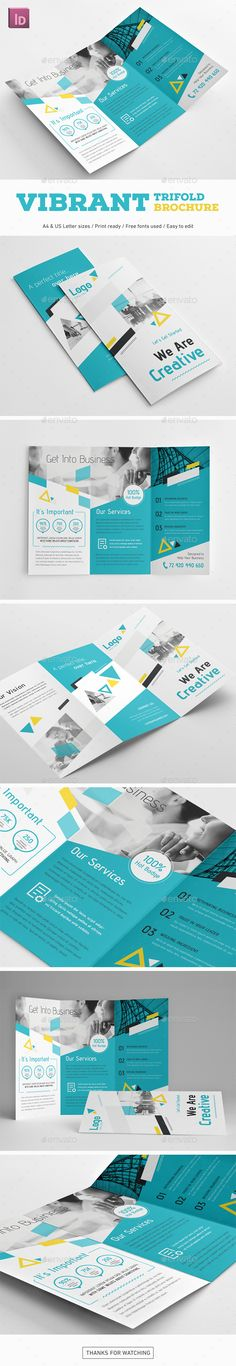 Vibrant Trifold Brochure - Corporate Brochures