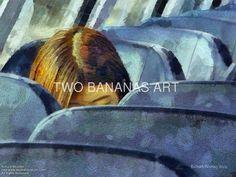 056 Young Lady On A Train by Richard Neuman Digital Media ~ 18 x 24