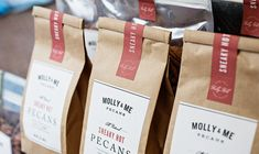 Molly & Me Pecans packaging design and branding
