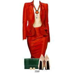 A fashion look from September 2014 featuring Yves Saint Laurent pumps, Nancy Gonzalez clutches y Carolina Bucci earrings. Browse and shop related looks.