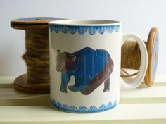 Ceramic coffee / tea mug Nordic Bear by Pandaandowl on Etsy. , via Etsy.