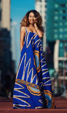 Wakanda Maxi Dress - African Print - Women's style: Patterns of sustainability African Inspired Fashion, African Print Fashion, Africa Fashion, Ethnic Fashion, Fashion Prints, Modern African Fashion, African Print Dresses, African Fashion Dresses, African Prints