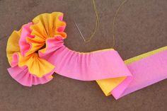 crepe paper flower pin