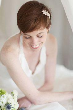 ideas para novias con pelo corto