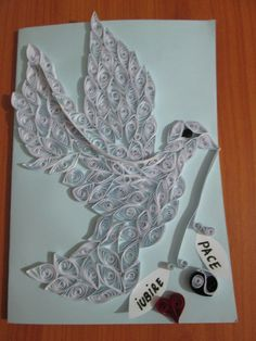 card with dove love and peace created by me