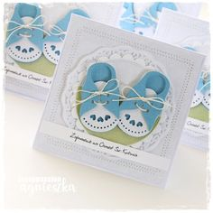 Baby Boy Cards, New Baby Cards, Baby Shower Cards, Cd Crafts, Diy Crafts For Gifts, Baby Congratulations Card, Christening Invitations, Baby Christening, Baby Album