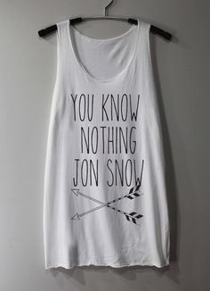 You+Know+Notthing+Jon+Snow+Shirt+Game+of+Throne+by+ThinkingGallery,+$15.00