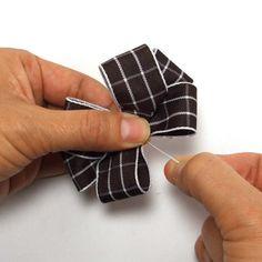 リボンバリエーション・6の作り方(8) Ribbon, Hair, Accessories, Hair Bows, Tape, Band, Ribbon Hair Bows, Bows, Bow