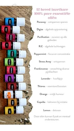 These are the 12 starter kit oils! - A starter kit contains 12 versatile oils that can give you a good start with the oils from Young Li - Young Living Diffuser, Young Living Oils, Young Living Essential Oils, Homemade Essential Oils, Essential Oil Uses, Doterra Essential Oils, Young Living Peppermint, Essential Oil Starter Kit, Aromatherapy Recipes