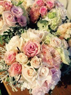 Pastel wedding bouquet by Liesje Bbradley