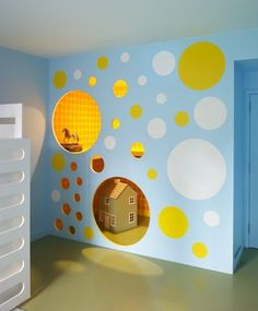 Kids Playroom Built in Playhouse- A great idea for a child's secret place and fort!