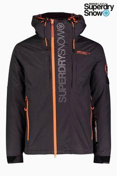 Mens Superdry Snow Black Ski Jacket - Black 4e052f365