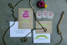 A rustic, neon themed wedding inspiration shoot with a barn reception, colorful neon wedding details and cotton candy wedding portraits. Cotton Candy Wedding, Wedding Candy, Custom Wedding Invitations, Invites, Cat Wedding, Wedding Portraits, Wedding Details, Stationary, Photo Shoot