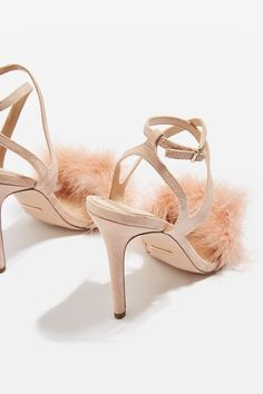 REINE Feather Heeled Sandals - Topshop