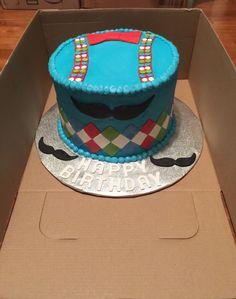 Adorable little man birthday cake!