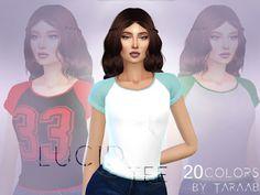 The Sims 4 Mody: Koszulki Lucid Tee od Taraab