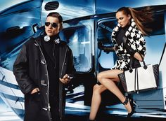 """Michael Kors Fall 2013 ad campaign. """"Urban athleticism meets uptown polish"""""""