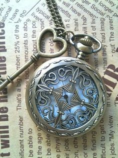 I found 'Steampunk Pocket Watch necklace Cross with key charm' on Wish, check it out!