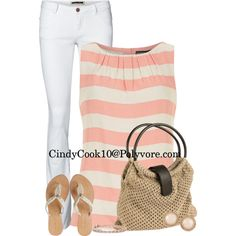 """""""Pink and White Spring Loving"""" by cindycook10 on Polyvore"""