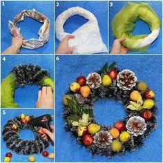 DIY Easy Christmas Wreath | GoodHomeDIY.com Follow Us on Facebook --> https://www.facebook.com/pages/Good-Home-DIY/438658622943462?ref=hl