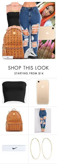 """""""Untitled #1342"""" by msixo ❤ liked on Polyvore featuring Leith, MCM, NIKE, Magda Butrym and TAXI"""