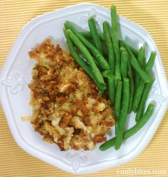 Cheesy Chicken & Stuffing  Yields 8 servings. WW P+: 7 per serving (P+ calculated using the recipe builder on weightwatchers.com)  Nutrition Information per serving from myfitnesspal.com: 304 calories, 20 g carbs, 9 g fat, 33 g protein, 1 g fiber
