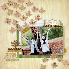 Scrapbook How to: Create Patterned Leaf Accents