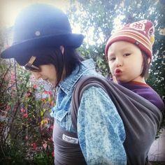 Snuggy Baby Hybrid wrap with 31 lbs of toddler  #itsagoorin Double Hammock, Hammocks, Hats, Hat, Hammock